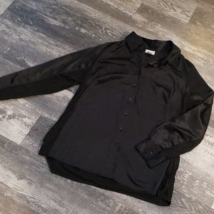 Black silk* shirt